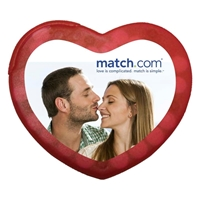 Imprinted Heart Shaped Credit Card Mints