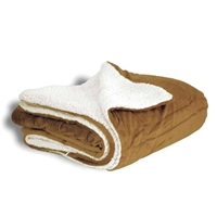 Mink Sherpa Blankets with Logo