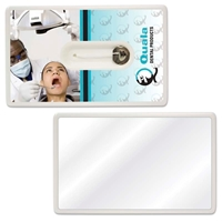 Promotional Credit Card Dental Floss With Mirror
