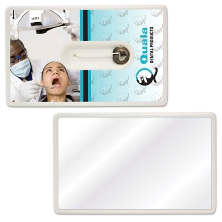 Picture of Custom Printed Credit Card Style Dental Floss with Mirror
