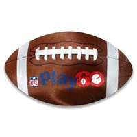 Picture of Custom Printed Football Shaped Microfiber Cleaning Cloth
