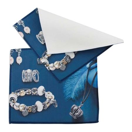 Custom Printed Microfiber & Metal Jewelry Polishing Cloth