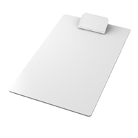 Clipboard with logo in white