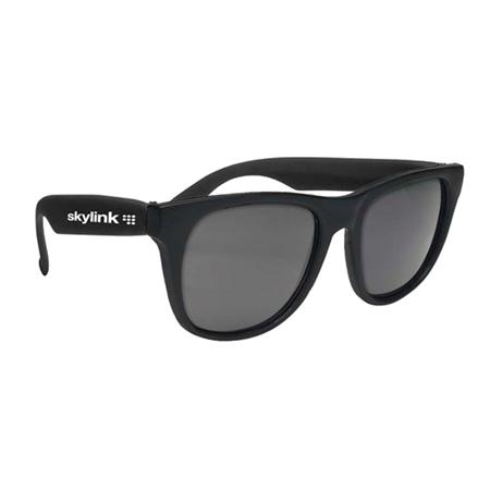Custom Printed Solid Color Rubberized Sunglasses