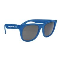 Custom Solid Color Rubberized Sunglasses