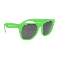 Promotional Solid Color Rubberized Sunglasses