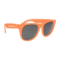 Branded Solid Color Rubberized Sunglasses