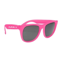 Imprinted Solid Color Rubberized Sunglasses