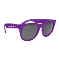 Personalized Solid Color Rubberized Sunglasses