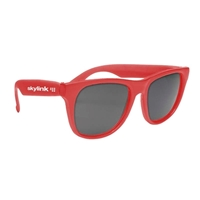 Solid Color Rubberized Sunglasses with your logo