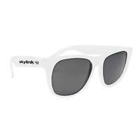 Solid Color Rubberized Sunglasses imprinted with your logo