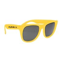 Customized Solid Color Rubberized Sunglasses
