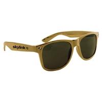 Metallic Sunglasses with Logo