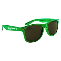 Green Imprinted Metallic Sunglasses