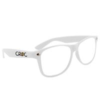 White Custom Clear Lens Glasses