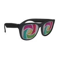 Picture of Custom Printed Solid Color Rubberized Logo Lenses Sunglasses