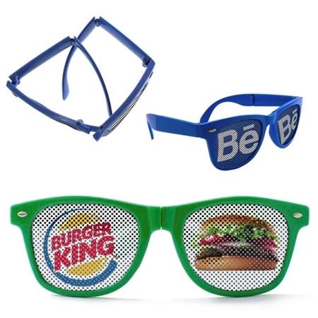 Picture of Custom Printed Folding Miami Logo Lenses Sunglasses