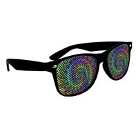 Picture of Custom Printed Solid Color Miami Logo Lenses Sunglasses