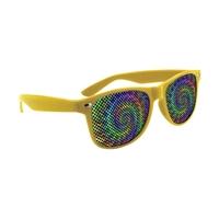 Picture of Custom Printed Solid Color Miami Logo Lenses Sunglasses