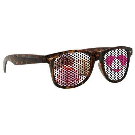 Picture of Custom Printed Tortoise Miami Logo Lenses Sunglasses