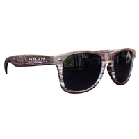 Picture of Custom Printed Dark Wood Tone Miami Sunglasses