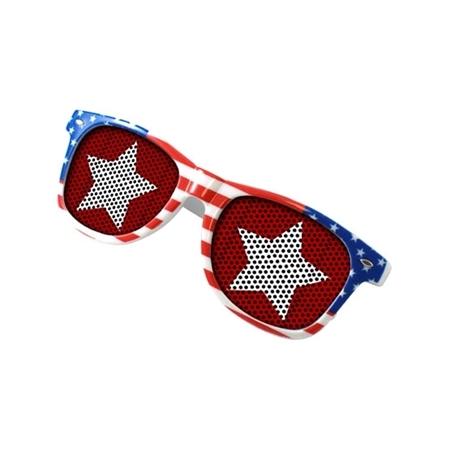 Picture of Custom Printed USA Patriotic Miami Logo Lenses Sunglasses
