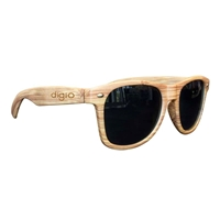 Picture of Custom Printed Light Wood Tone Miami Sunglasses