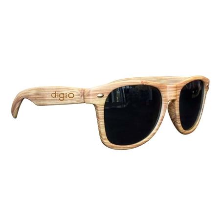 Picture of Custom Printed Light Wood Tone Miami Sunglasses