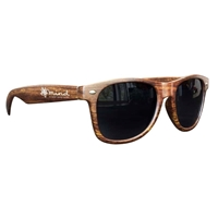 Picture of Custom Printed Medium Wood Tone Miami Sunglasses