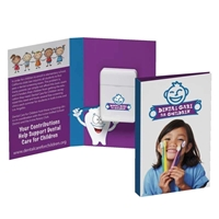Picture of Custom Printed Tek Booklet with Traditional Rectangular Shaped Dental Floss