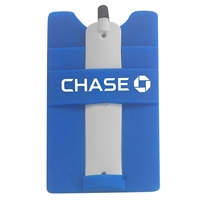 Picture of Custom Printed Silicone Cell Phone Smart Wallet with Stylus Stand
