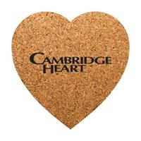 Heart Shaped Custom Cork Coaster
