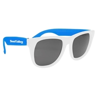 Picture of Custom Printed White Frame Rubberized Sunglasses