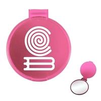 Pink Round Compact Mirror