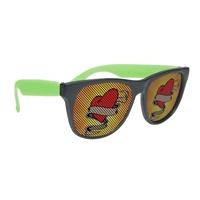 Personalized Black Frame Rubberized Logo Lenses Sunglasses