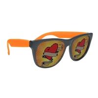 Branded Black Frame Rubberized Logo Lenses Sunglasses
