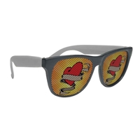 Custom-Made Black Frame Rubberized Logo Lenses Sunglasses