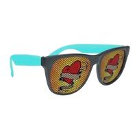 Black Frame Rubberized Logo Lenses Sunglasses With Your Logo