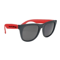Picture of Custom Printed Black Frame Rubberized Sunglasses