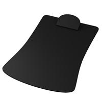 Black Imprinted Contoured Clipboard