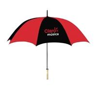 "Custom 48"" Wooden Handle Umbrellas"