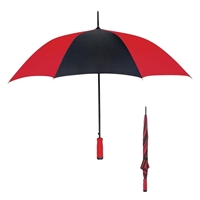 "Branded 46"" Umbrella with Colored Handle"