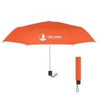 "Orange Branded 42"" Umbrella"