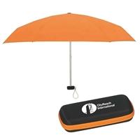 "37"" Customizable Folding Travel Umbrella"