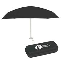 "Black Branded 37"" Arc Umbrellas"