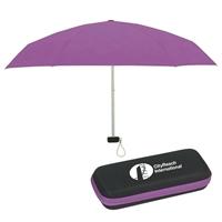 """37"""" Imprinted Travel Umbrella With Case"""