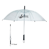 "Promotional 46"" Clear Arc Umbrella"