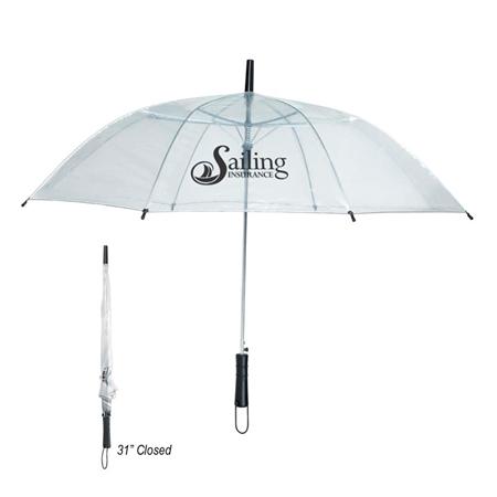 "Promotional 46"" Clear Arc Umbrella"