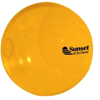 "Custom Yellow 16"" Beach Ball"