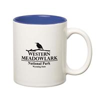 Picture of Custom Printed 11 oz.  Stoneware Mug With C-Handle